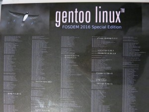 Gentoo DVD package list